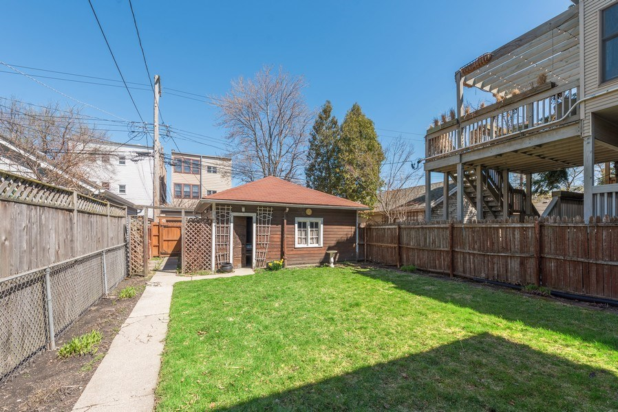 Real Estate Photography - 3034 W Wilson Ave, Chicago, IL, 60625 - Back Yard