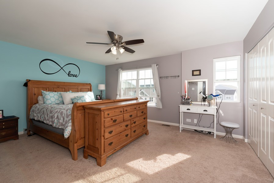Real Estate Photography - 1686 Ruby Dr, Pingree Grove, IL, 60140 - Master Bedroom