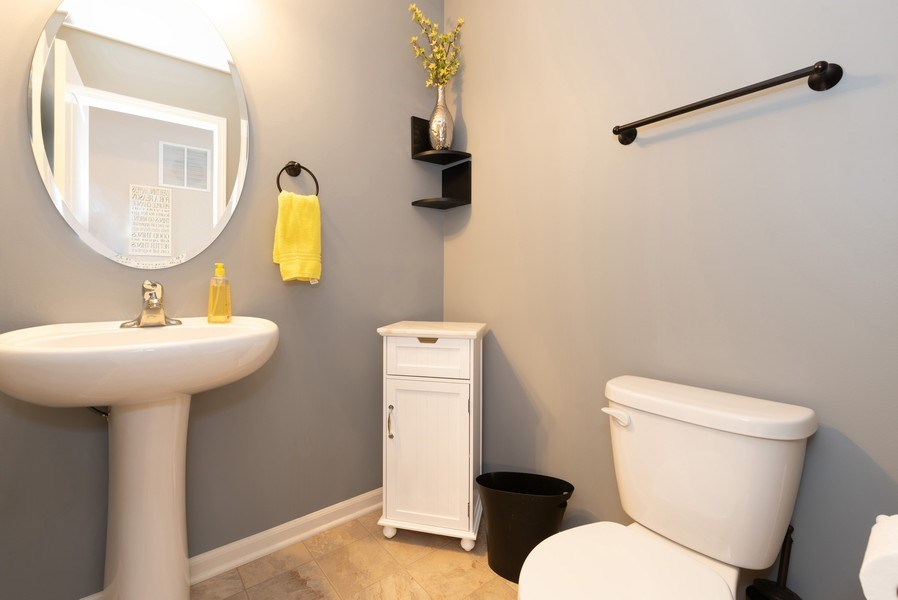 Real Estate Photography - 1686 Ruby Dr, Pingree Grove, IL, 60140 - Powder Room