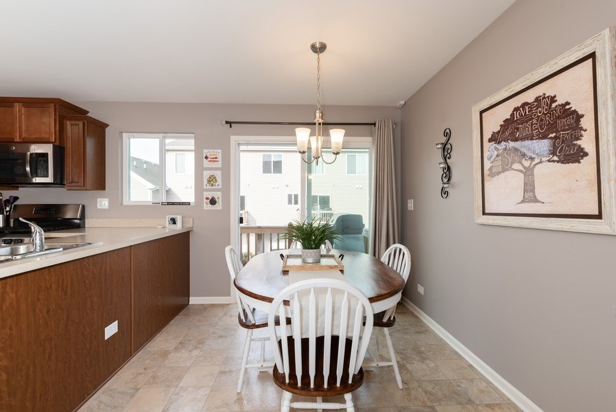 Real Estate Photography - 1686 Ruby Dr, Pingree Grove, IL, 60140 - Dining Area