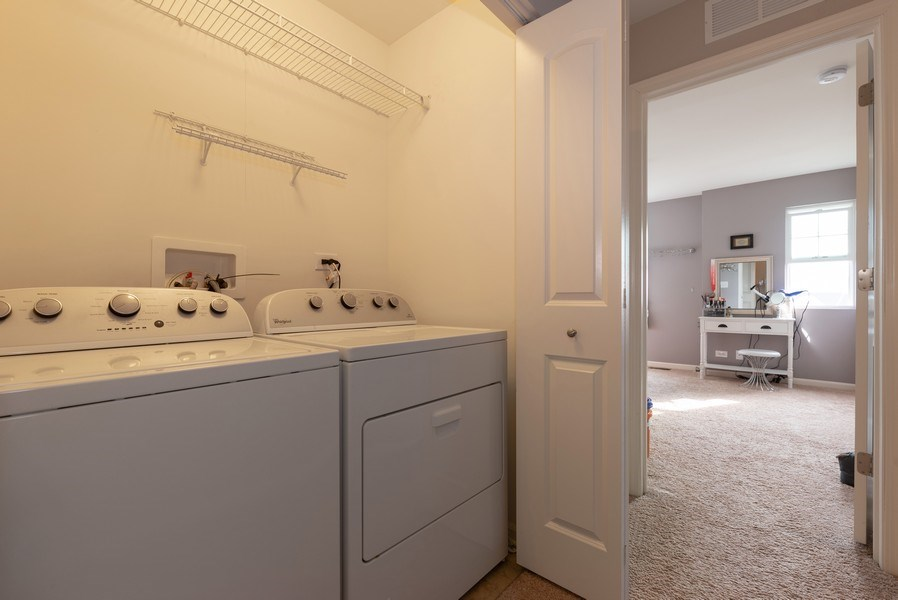 Real Estate Photography - 1686 Ruby Dr, Pingree Grove, IL, 60140 - Laundry Room