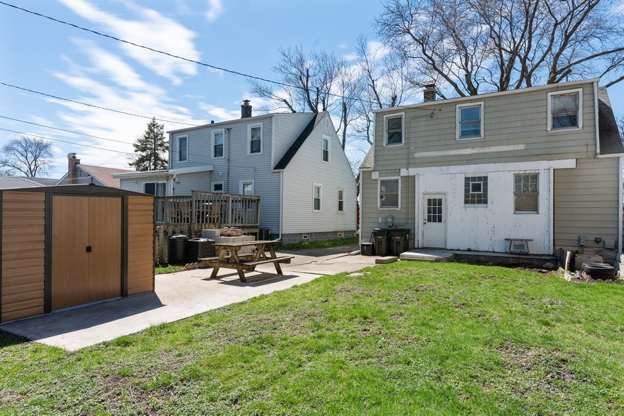 Real Estate Photography - 9131 New England Ave., Morton Grove, IL, 60053 - Rear View