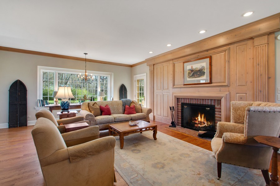 Real Estate Photography - 7208 White Oaks Road, Harvard, IL, 60033 - Family Room Combined with Kitchen