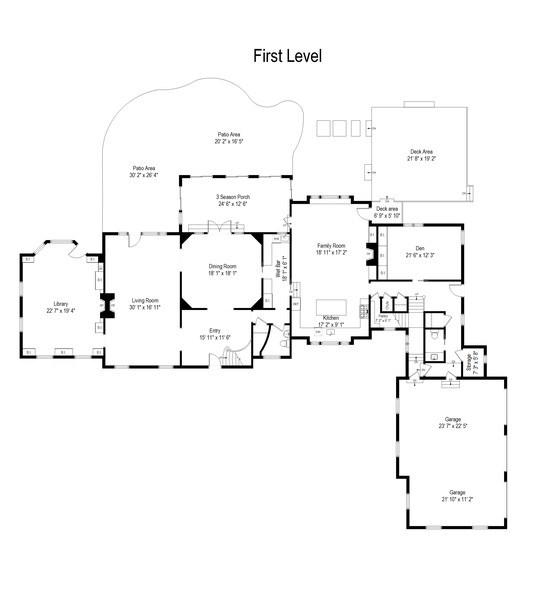 Real Estate Photography - 7208 White Oaks Road, Harvard, IL, 60033 - Floor Plan