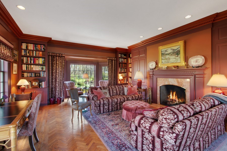 Real Estate Photography - 7208 White Oaks Road, Harvard, IL, 60033 - Library