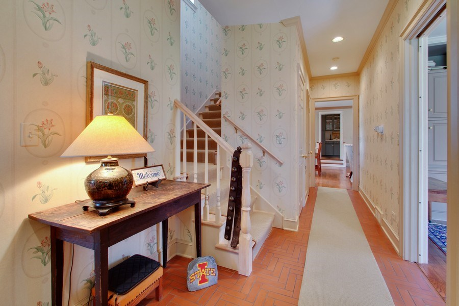 Real Estate Photography - 7208 White Oaks Road, Harvard, IL, 60033 - Back Stairway