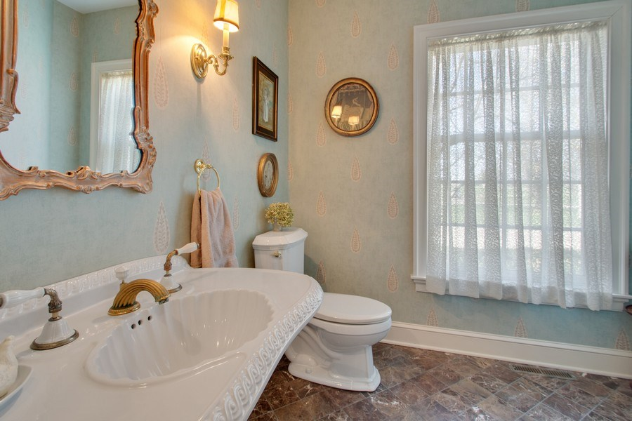Real Estate Photography - 7208 White Oaks Road, Harvard, IL, 60033 - Powder Room