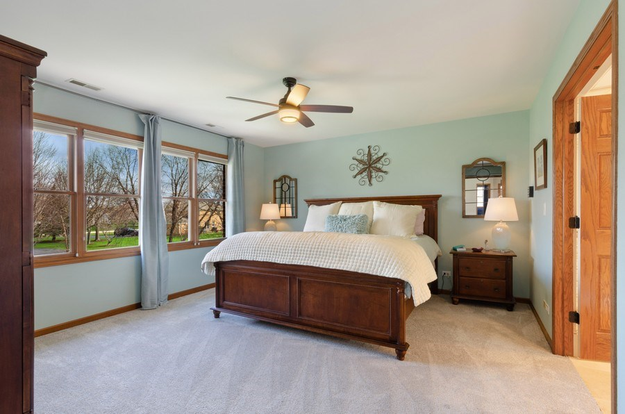 Real Estate Photography - 7724 Dairy Lane, Village of Lakewood, IL, 60014 - Master Bedroom