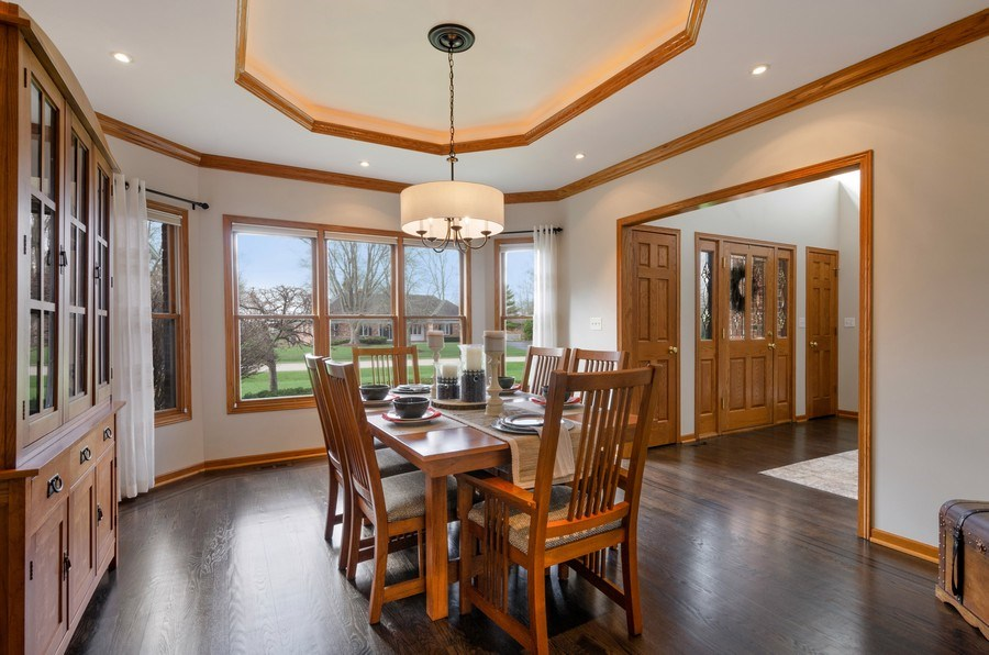 Real Estate Photography - 7724 Dairy Lane, Village of Lakewood, IL, 60014 - Dining Room
