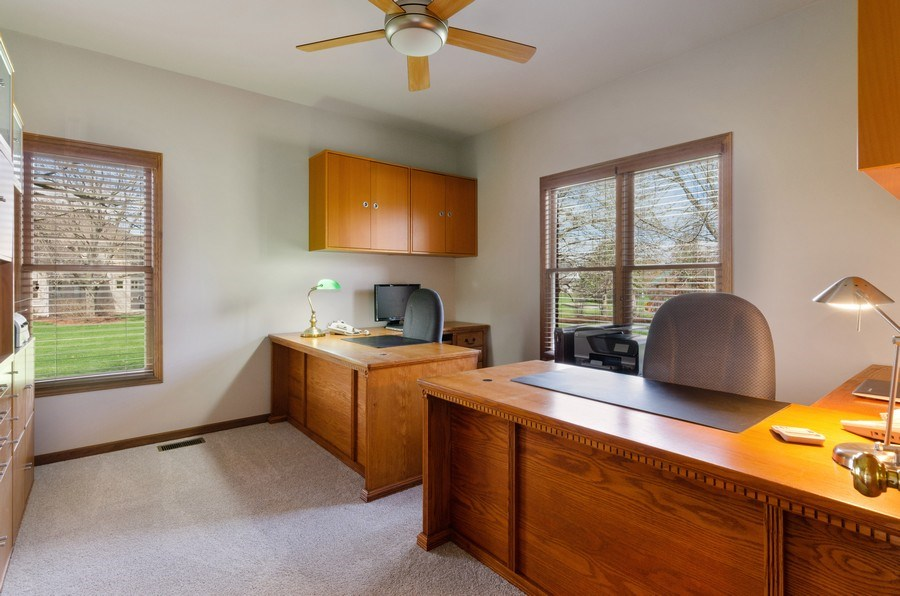 Real Estate Photography - 7724 Dairy Lane, Village of Lakewood, IL, 60014 - Office