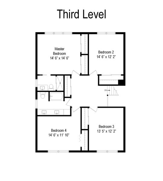 Real Estate Photography - 904 W George St, Arlington Heights, IL, 60005 - Floor Plan
