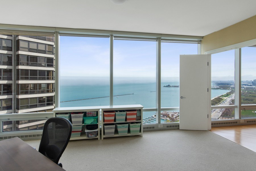 Real Estate Photography - 340 E Randolph, 2901, Chicago, IL, 60601 - 2nd Bedroom