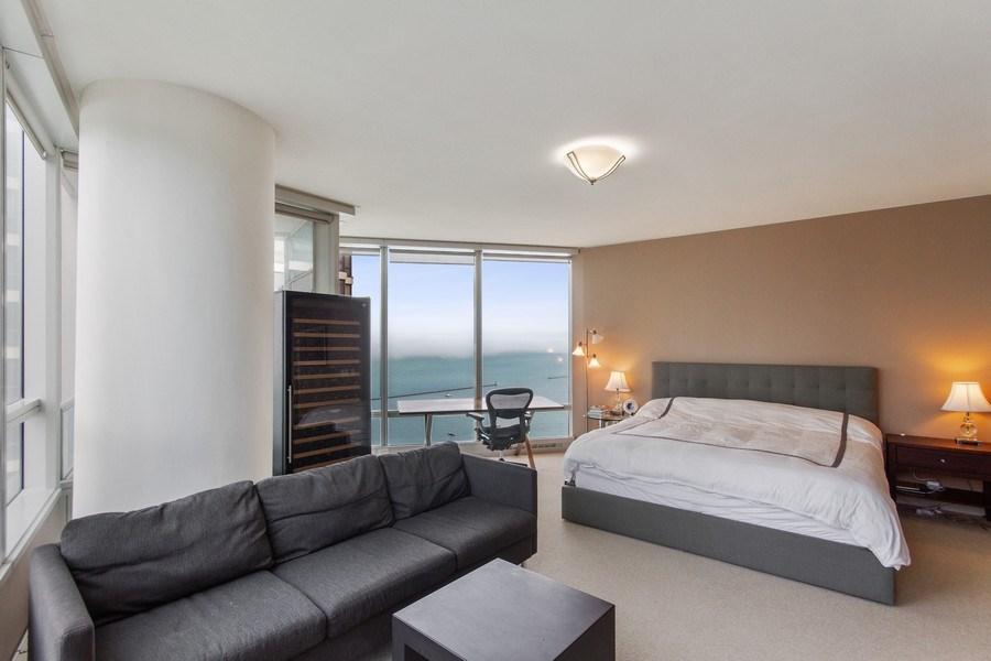 Real Estate Photography - 340 E Randolph, 2901, Chicago, IL, 60601 - Master Bedroom