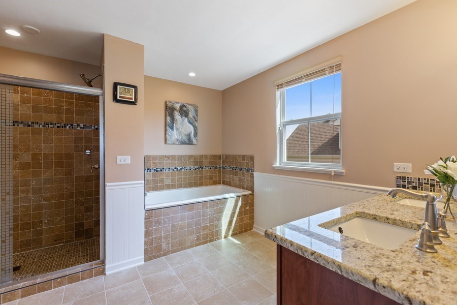 Real Estate Photography - 9405 Cummings St, Huntley, IL, 60142 - Master Bathroom