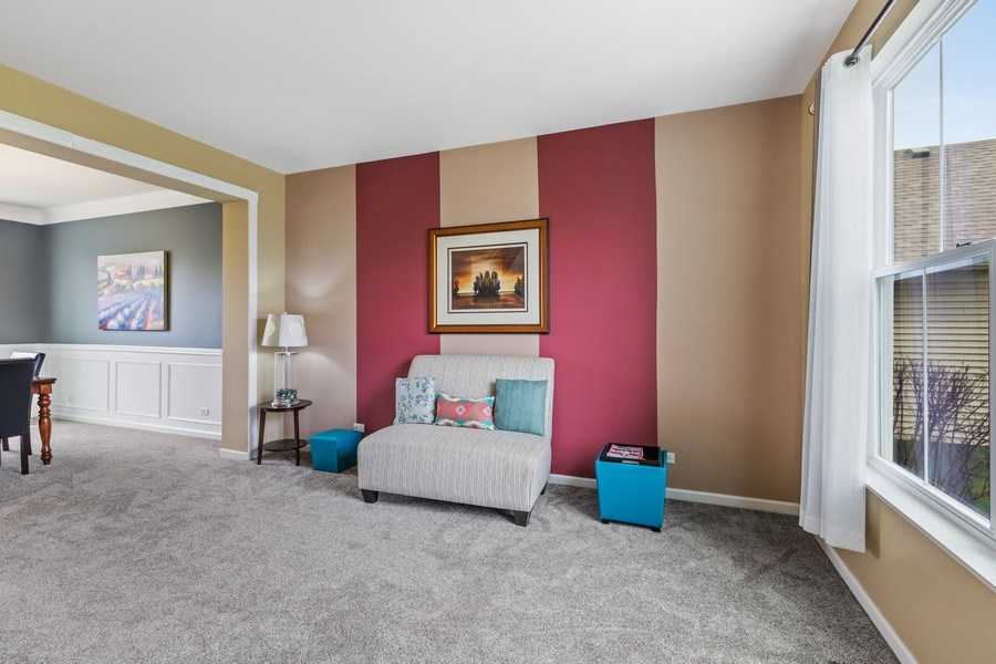 Real Estate Photography - 9405 Cummings St, Huntley, IL, 60142 - Living Room