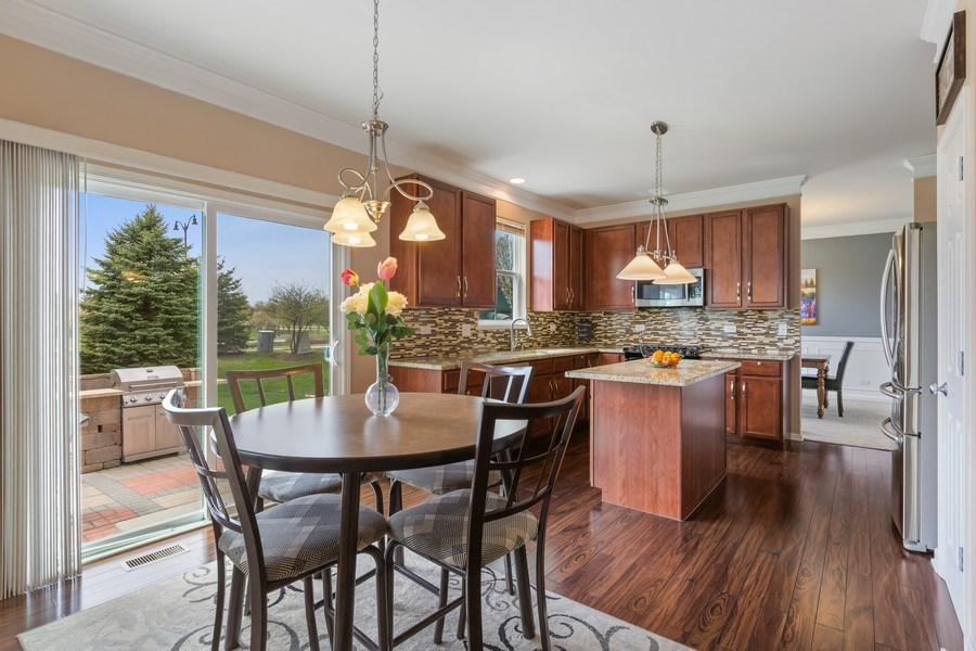 Real Estate Photography - 9405 Cummings St, Huntley, IL, 60142 - Breakfast Area