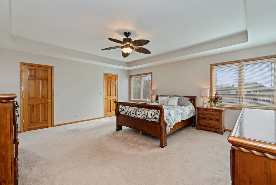 Real Estate Photography - 9121 Loch Glen, Lakewood, IL, 60014 - Master Bedroom