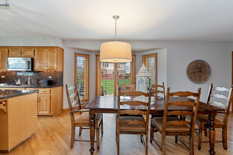 Real Estate Photography - 9121 Loch Glen, Lakewood, IL, 60014 - Dining Area