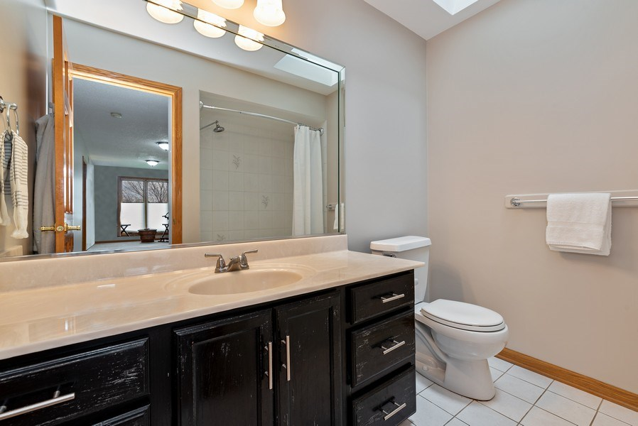 Real Estate Photography - 9121 Loch Glen, Lakewood, IL, 60014 - 2nd Bathroom