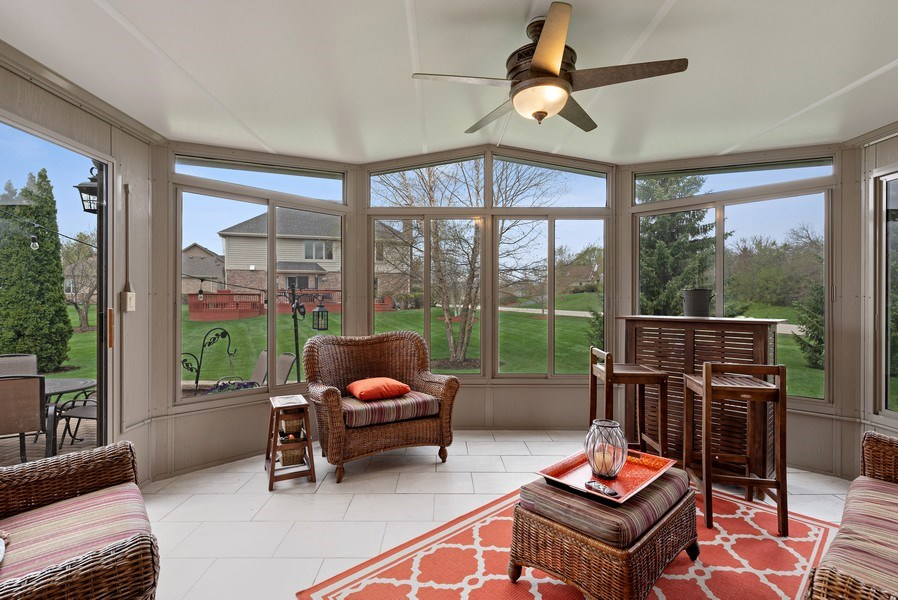Real Estate Photography - 9121 Loch Glen, Lakewood, IL, 60014 - Sun Room