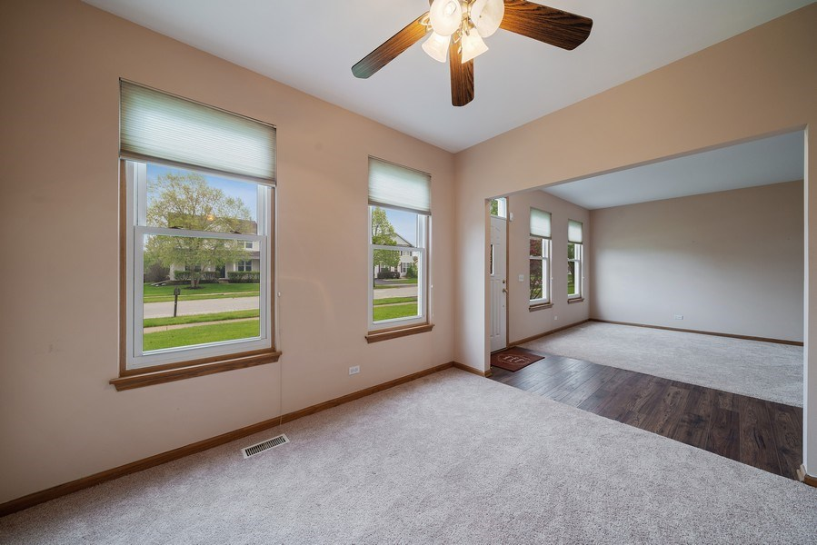 Real Estate Photography - 1951 Fescue, Aurora, IL, 60504 - Living Room/Dining Room