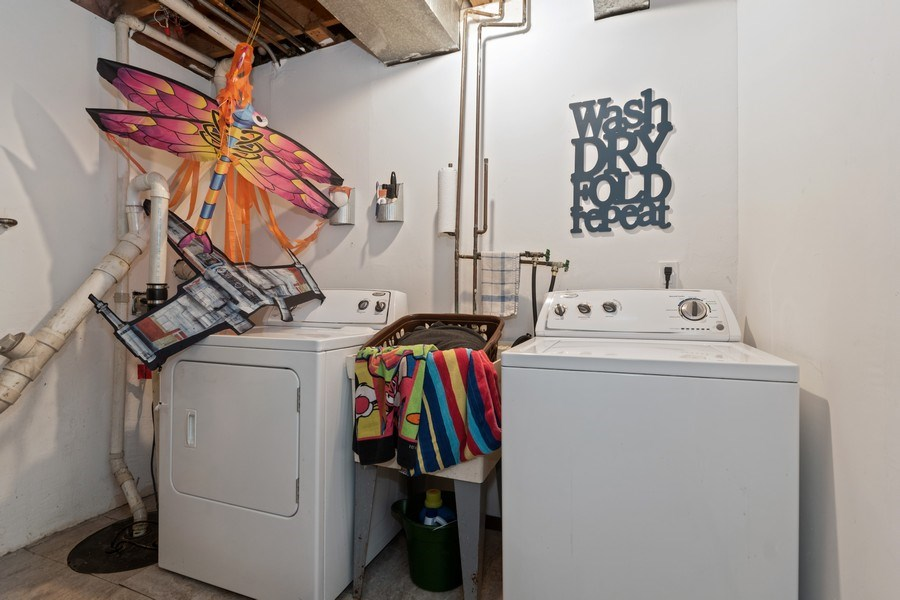 Real Estate Photography - 341 Martin Ln, Bloomingdale, IL, 60108 - Laundry Room