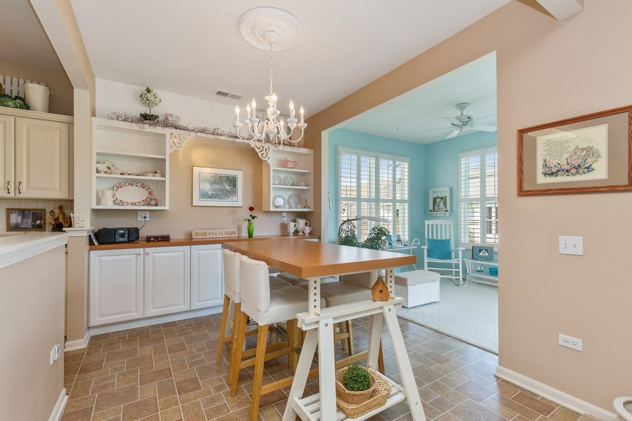 Real Estate Photography - 11890 Covey Lane, Huntley, IL, 60142 - Kitchen / Breakfast Room