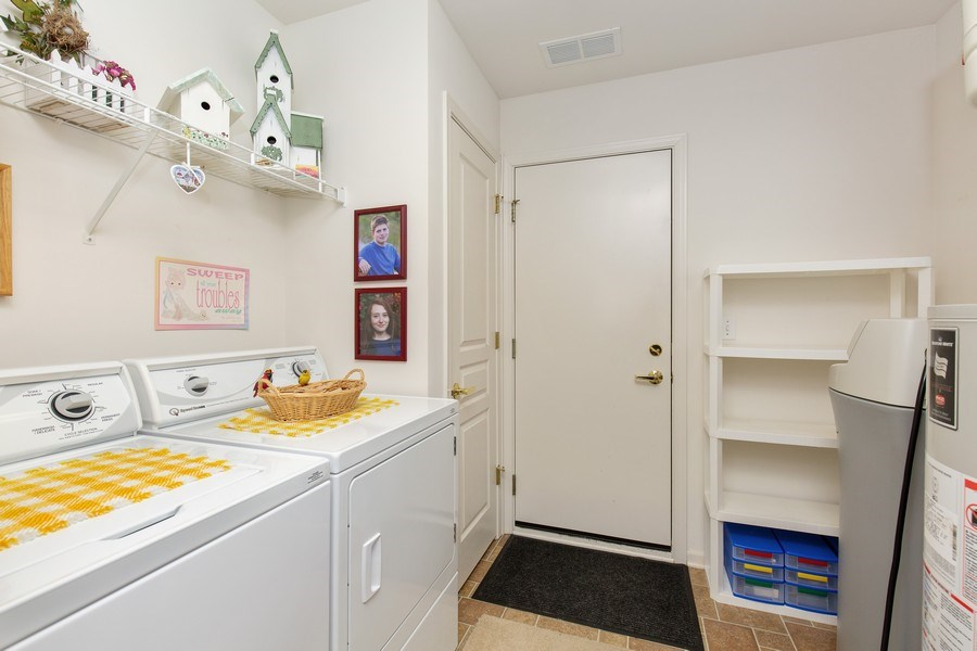 Real Estate Photography - 11890 Covey Lane, Huntley, IL, 60142 - Laundry Room