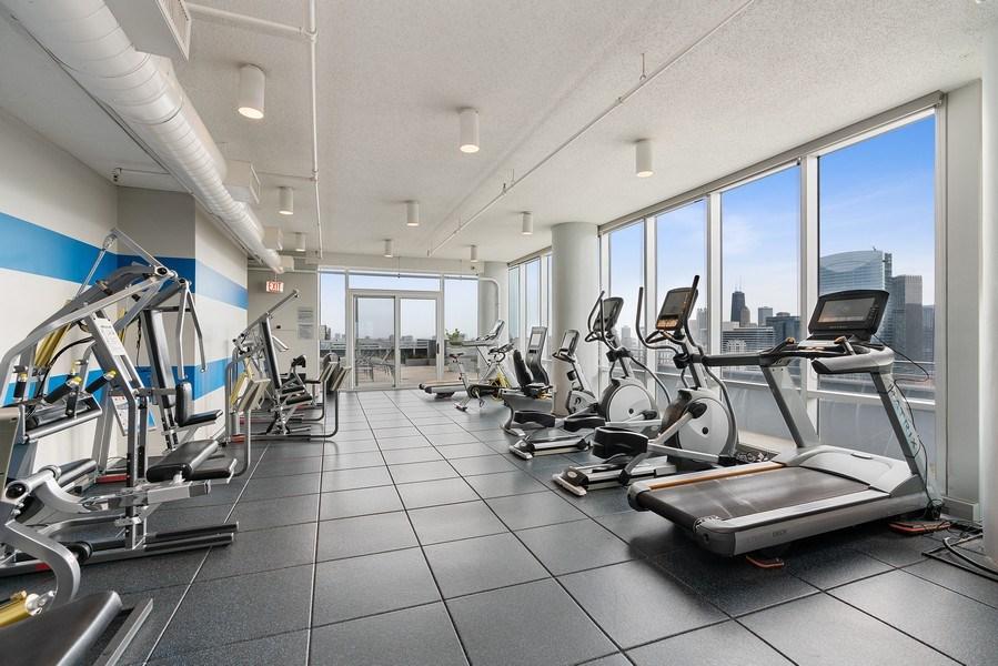 Real Estate Photography - 737 W Washington Blvd, Unit 2403, Chicago, IL, 60661 - Gym
