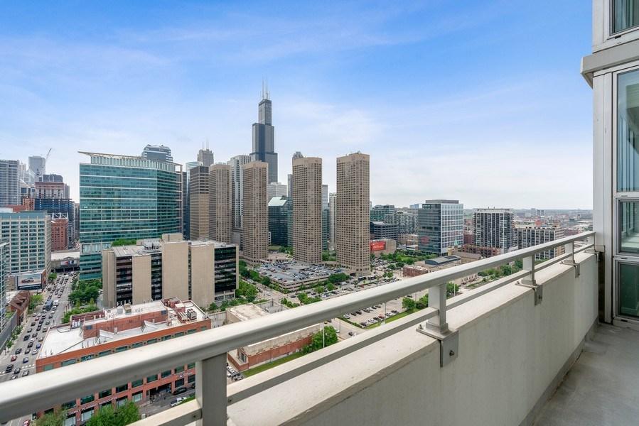 Real Estate Photography - 737 W Washington Blvd, Unit 2403, Chicago, IL, 60661 - Balcony