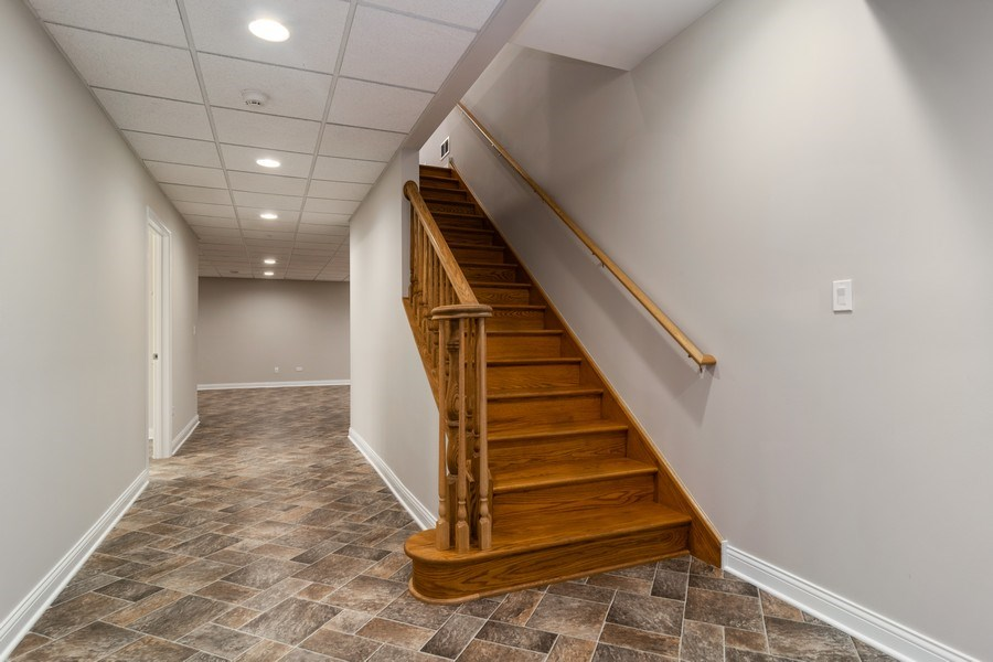 Real Estate Photography - 214 donmor dr, bloomingdale, IL, 60108 - Staircase To Basement
