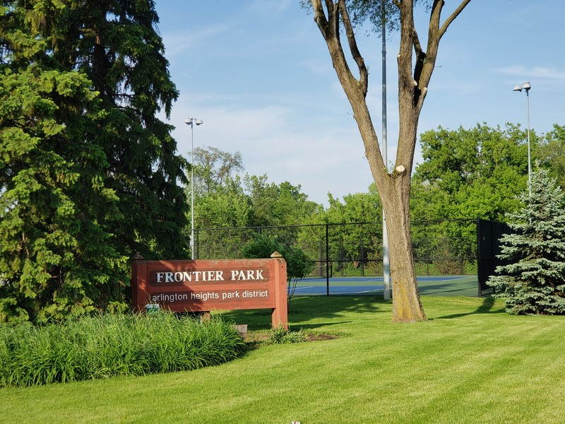 Real Estate Photography - 704 W Palatine Rd, Arlington Heights, IL, 60004 - Tennis Courts