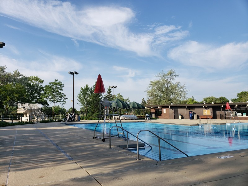 Real Estate Photography - 704 W Palatine Rd, Arlington Heights, IL, 60004 - Lap Pool/Diving Well