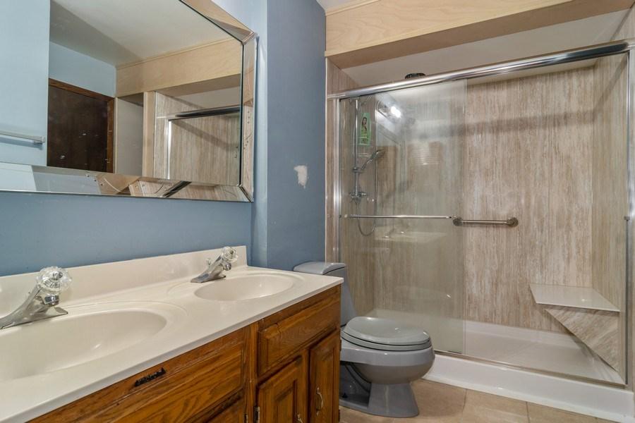 Real Estate Photography - 2040 Arbor Vitae Drive, Hanover Park, IL, 60133 - Bathroom