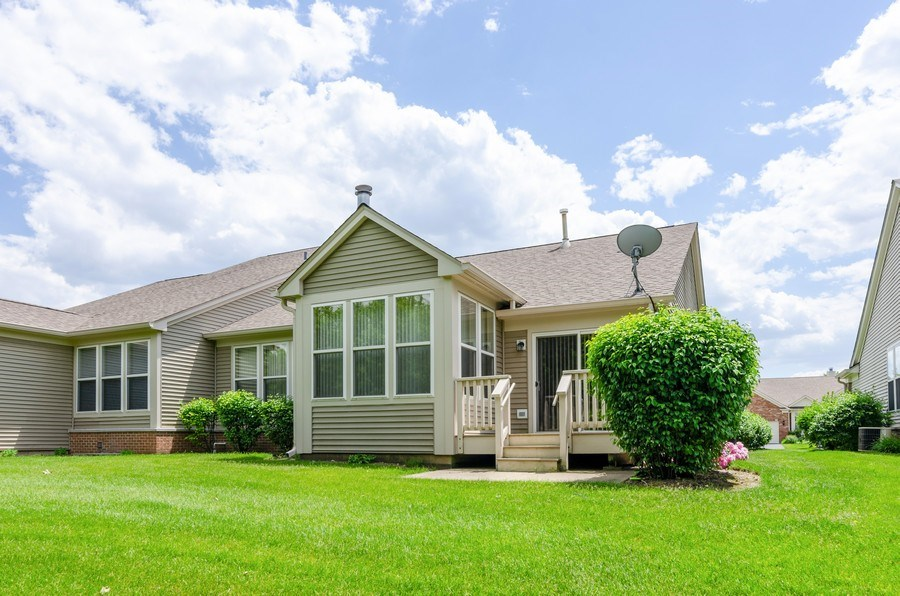 Real Estate Photography - 4201 Whitehall Lane, Algonquin, IL, 60102 - Rear View