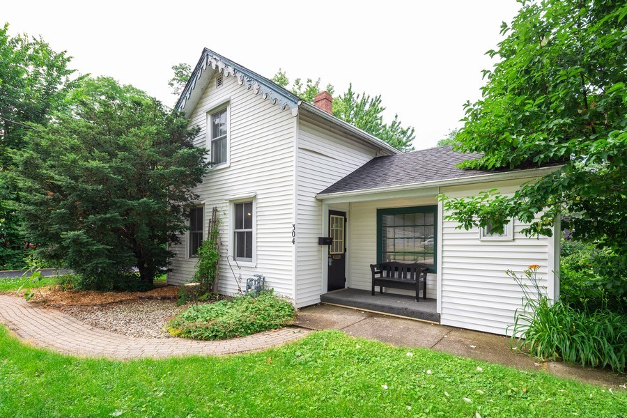 Real Estate Photography - 304 W. Calhoun, Woodstock, IL, 60098 - Front Elevation w/ Brick Paver Walkway