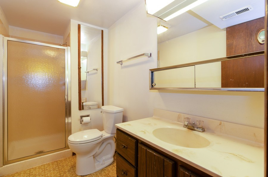 Real Estate Photography - 823 Forest, Bartlett, IL, 60103 - 2nd Bathroom