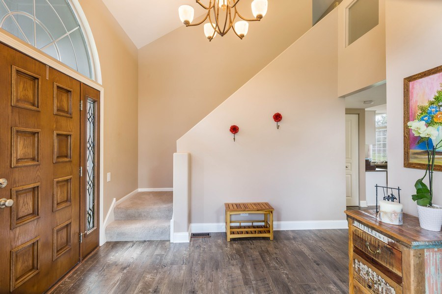 Real Estate Photography - 235 Farmhill Dr, Algonquin, IL, 60102 - 1 OF 2 STAIRCASES LEADING TO BEDROOMS