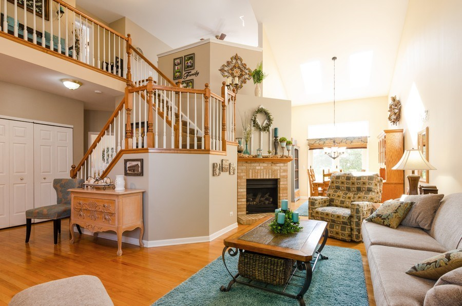 Real Estate Photography - 8323 Raptor Trail, Lakewood, IL, 60014 - Living Room