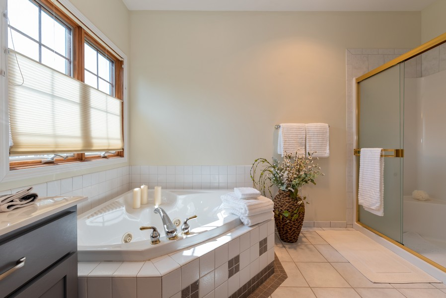 Real Estate Photography - 1344 Winslow Circle, Woodstock, IL, 60098 - Master Bathroom