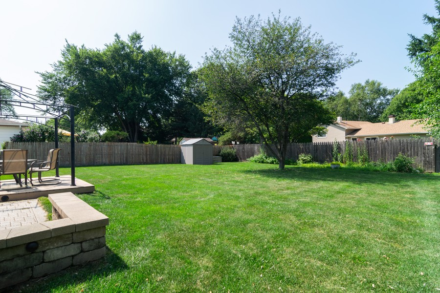 Real Estate Photography - 1610 Sheffield Dr, Elgin, IL, 60123 - Back Yard