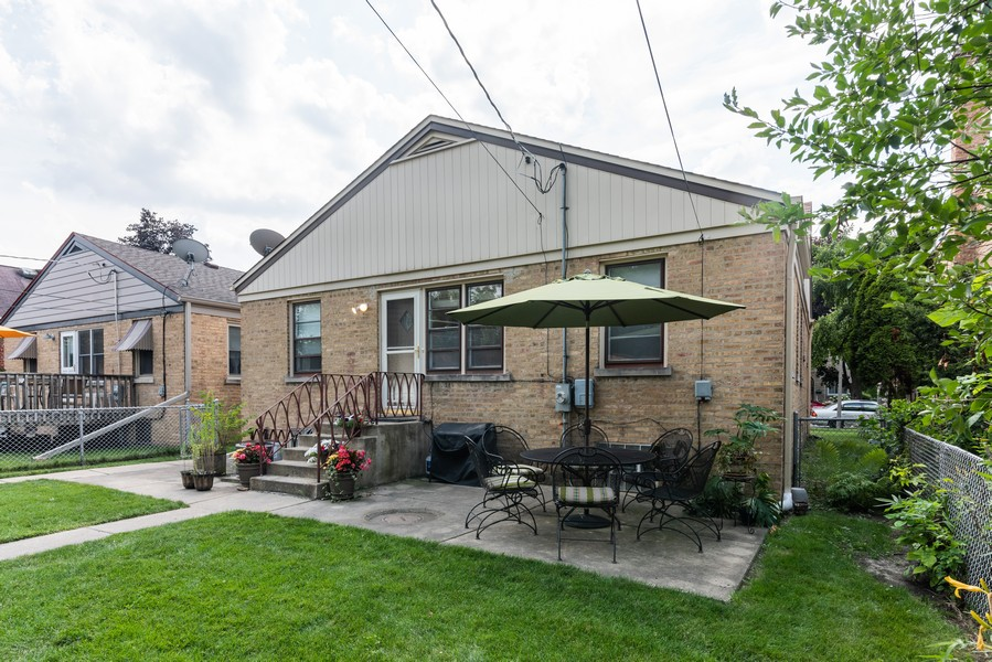 Real Estate Photography - 8209 Tripp Ave, Skokie, IL, 60076 - Rear View