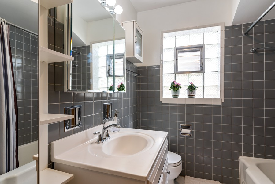 Real Estate Photography - 8209 Tripp Ave, Skokie, IL, 60076 - Bathroom