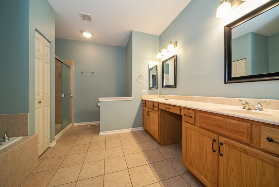 Real Estate Photography - 1321 Boulder Court, Woodstock, IL, 60098 - Master Bathroom