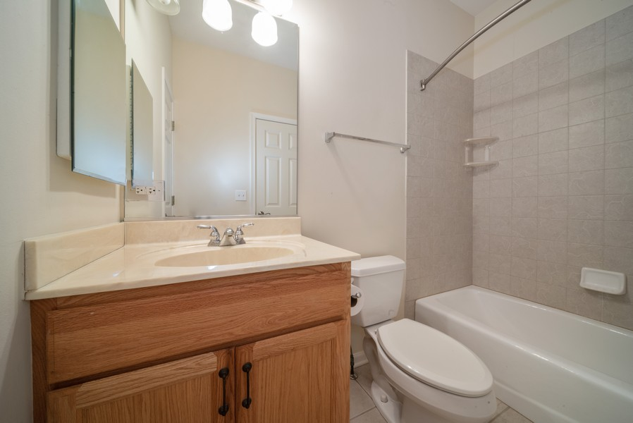 Real Estate Photography - 1321 Boulder Court, Woodstock, IL, 60098 - Bathroom