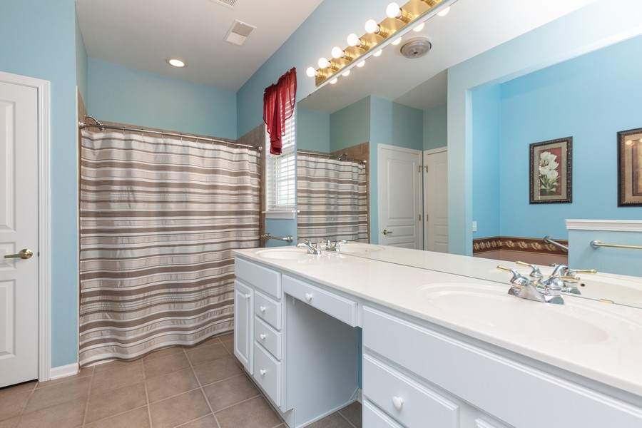 Real Estate Photography - 13013 Dearborn Trail, Huntley, IL, 60142 - Master Bathroom