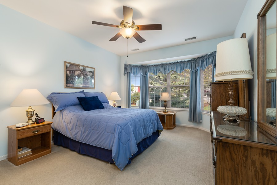 Real Estate Photography - 13013 Dearborn Trail, Huntley, IL, 60142 - Master Bedroom
