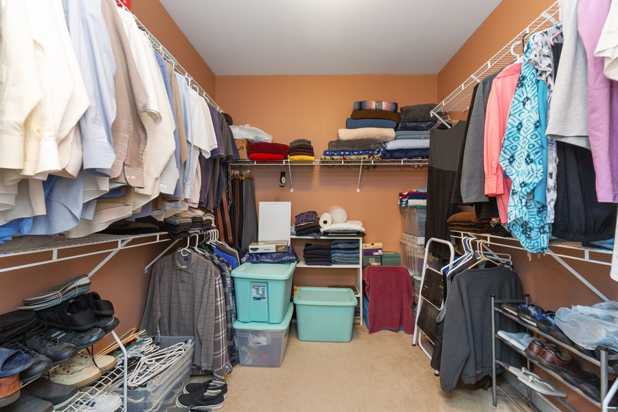 Real Estate Photography - 13013 Dearborn Trail, Huntley, IL, 60142 - Master Bedroom Closet