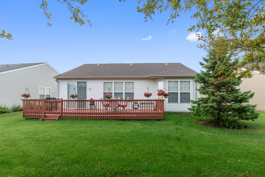 Real Estate Photography - 13013 Dearborn Trail, Huntley, IL, 60142 - Rear View