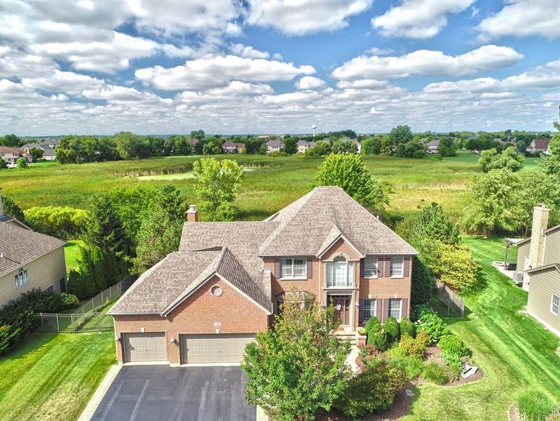 Real Estate Photography - 730 Foxglove Drive, Algonquin, IL, 60102 - Aerial View